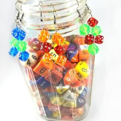 Gamer Girl Dice Earrings by WildeGeeks