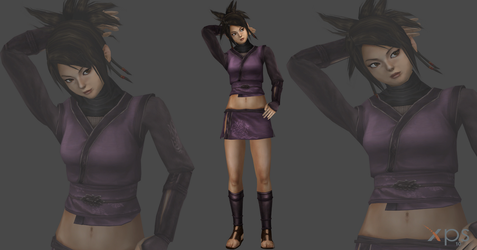 Wrath of the shadow assasin/Young Ayame mesh mod by OTsunaO
