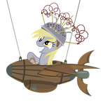 Derpy flying a plane by sofunnyguy
