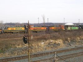 BNSF SW's by LDLAWRENCE