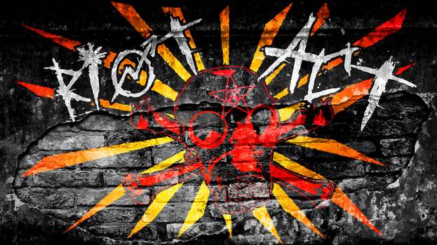 RIOT ACT on BRICK - Desktop/Wallpaper by scart