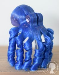 Cobolt Blue and Purple Octopus Fascinator by deeed