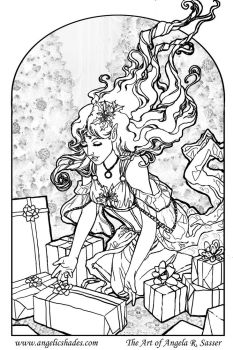 The Gift Giver Line Art by AngelaSasser