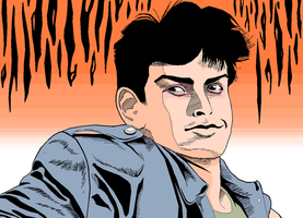 Charlie Sheen MS PAINT by CaptainRedblood