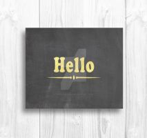 Hello with Gold Foil by Thelildesigns