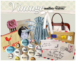 Vintage wallets+extras PNG by SublimeArtDusT