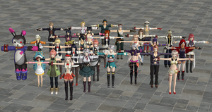 God Eater 2 Rage Burst Characters PC Version by user619