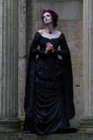 Stock - Victorian gothic woman romantic looks up by S-T-A-R-gazer