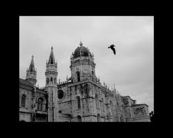 Seagull and Church by GeoffroyVincens
