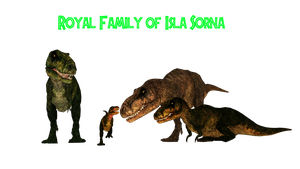 Isla Sorna Royal T-Rex Family by GorgonGorgosaurus