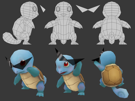 3d squirtle by Aeveis