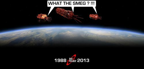 Red Dwarf - 3 generations of the same Mining Ship by DoctorWhoOne