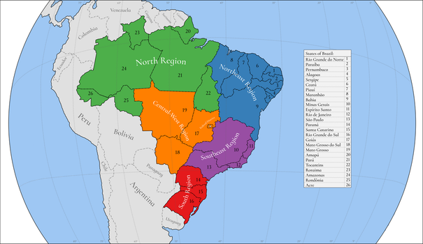 Political Units of Brazil by Luis2100PT
