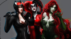 The Gotham City Sirens by Arcan-Anzas