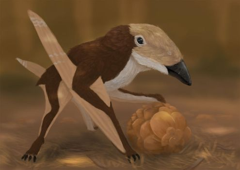 Pterosaur ptuesday Nemicolopterus! by tepuitrouble