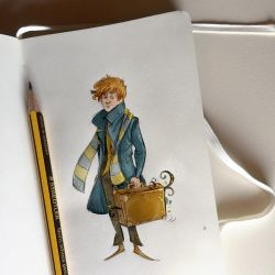 Notes and sketches   Newt Scamander by SimonaBonafiniDA