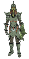 Borgakh -orcish armor color by swept-wing-racer