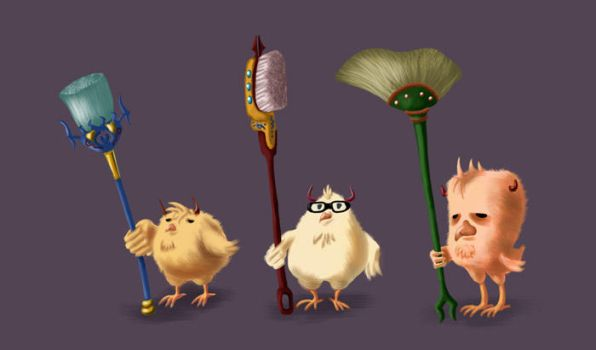 Doomchickies Concepts I by Sandcastle