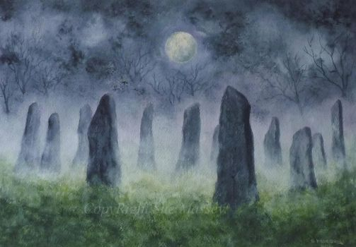 The Ancient Standing Stones. by SueMArt
