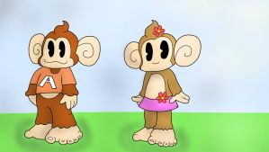 Super Monkey Ball Adventure: AiAi and MeeMee by Lord-Benson