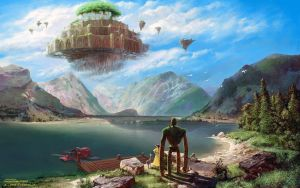 Laputa: Castle In The Sky Over Achensee - WP by fantasio
