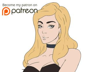 Black canary Patreon preview by Artdevangins
