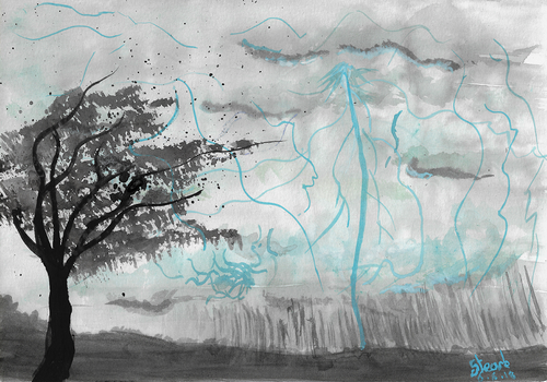 Watercolour storm by SulaimanDoodle