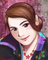 Emily's Anime Portrait Colored by EmilyCammisa