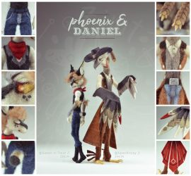 [$] Phoenix and Daniel by ZimtBeadwork