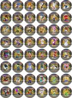 Animal Crossing Visitor Badges by RedPawDesigns