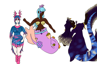 ChickenSmoothie Inspired Mermay Concepts by fagonstar