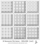 Seamless Photoshop Patterns 2 by CAD-animedreams