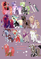 :-: All My Mare OC References :-: by puppetmasterr