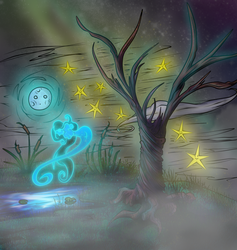 Ghostly Girl in the Moonlight by Ralola