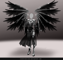 (closed) - Outfit Adopt 699 - Black Knight by CherrysDesigns