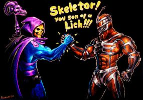 Skeletor and Zedd by PitBOTTOM