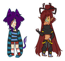 Chibis for DevilMadison by Honeybee-Jubilee