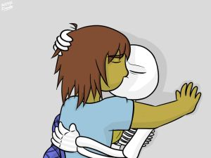 sans x frisk love in the lab by doudy20 on deviantart