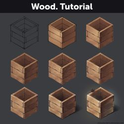 Wood. Tutorial by Anastasia-berry
