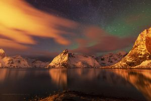 Lofoten Lights by Stridsberg