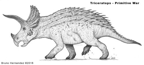 Triceratops full body reference - Primitive War by Christoferson