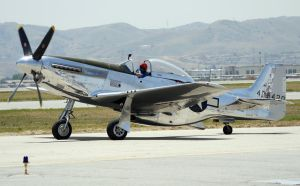 North American P-51 taxi by shelbs2