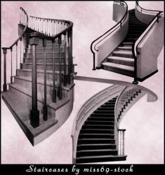 Stair Case Brushes by miss69-stock