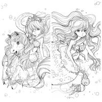 My Mermaid Coloring Contest is on! by camilladerrico