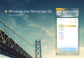 Windows live messenger UI by amine5a5