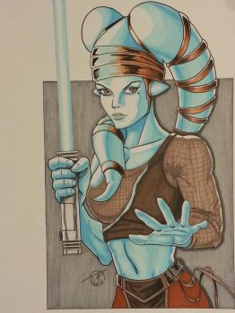Aayla Secura Copic Marker by sithlord151