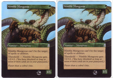 nimble mongoose - altered mtg by eddy-pochy