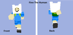 Finn The Human Minecraft Skin by PaoloNormalState
