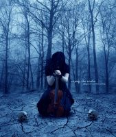 ++..Crying the violin..++ by random-victory