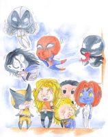 Chibis Marvel by Doku-Sama